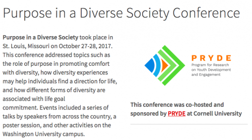 Purpose in a Diverse Society Conference